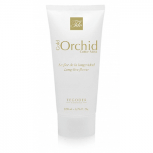 Gold Orchid Cotton Mask