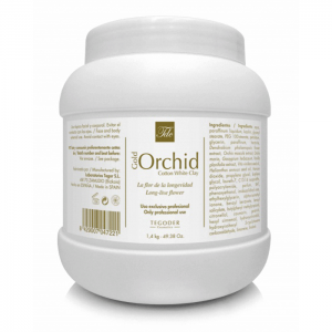 Gold Orchid Cotton White Clay